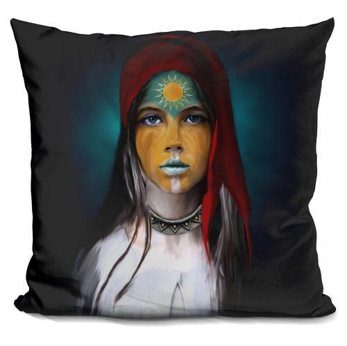 Riza Peker 'Chalchiuhtlicue' Throw Pillow