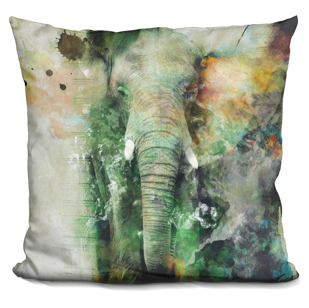 Malawi Elephant Throw Pillow : Riza Peker Elephant Throw Pillow