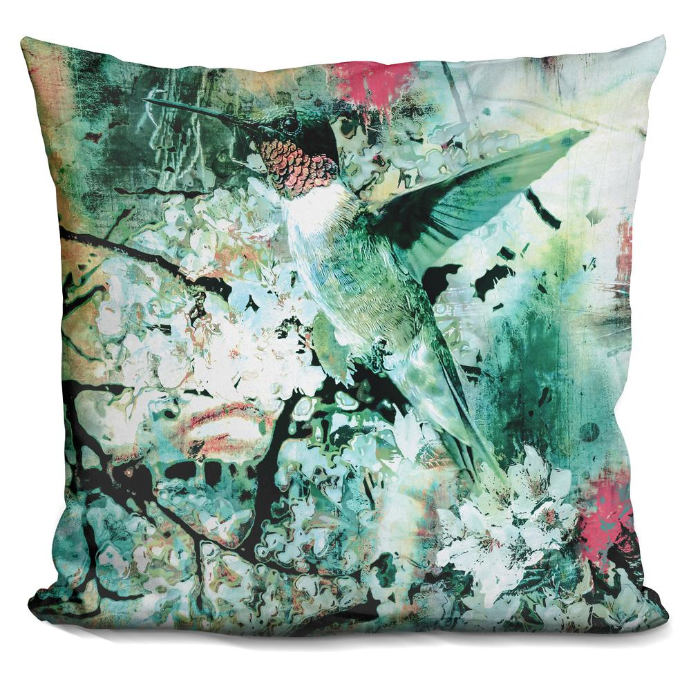 Riza Peker Hummingbird Throw Pillow