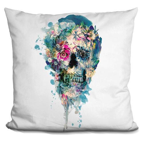 Riza Peker 'Skull ST III' Throw Pillow