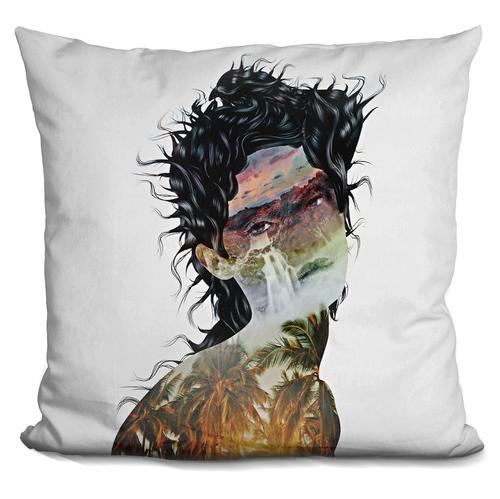 Riza Peker 'Summer Tears In Paradise' Throw Pillow