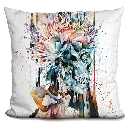 Riza Peker 'SKULL NII' Throw Pillow
