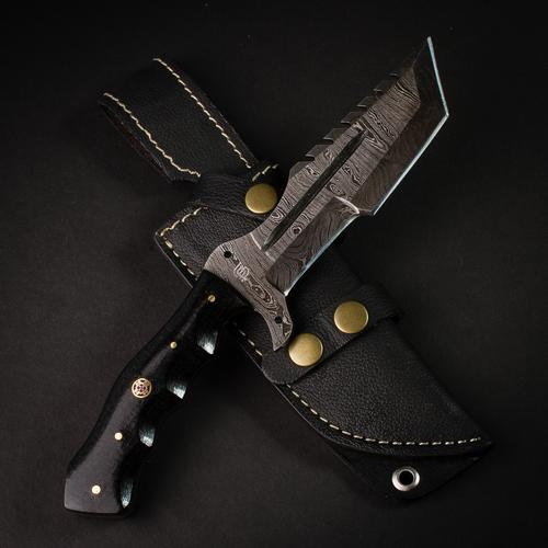 Kimura Damascus Steel Tanto Knife