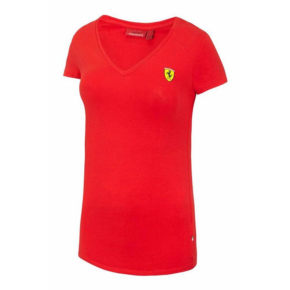 Scuderia Ferrari V-Neck T-Shirt Ladies   Motorstore