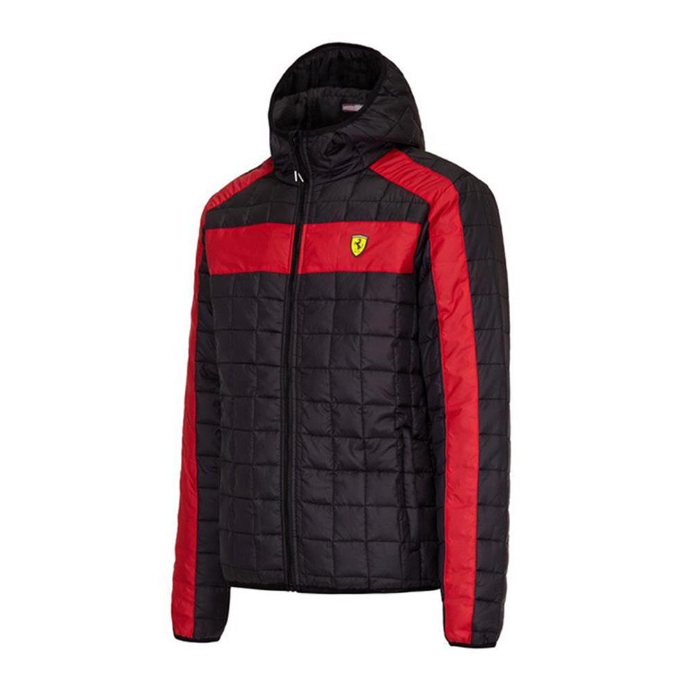 Scuderia Ferrari Packable Padded Jacket Mens   Motorstore