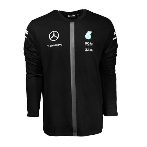 MERCEDES AMG PETRONAS LONG SLEEVE DRIVER T-SHIRT MENS